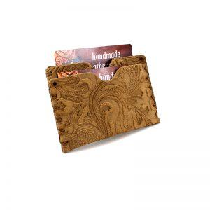 Business AsUsual: Θήκη για Πιστωτικές Κάρτες – Καφέ Ανοιχτό, Ανάγλυφο