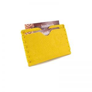 Business AsUsual: Θήκη για Πιστωτικές Κάρτες – Κίτρινο, Με Πόρους